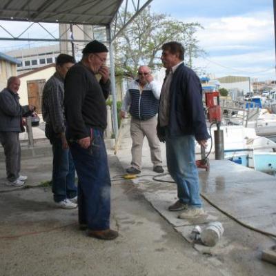 Avril 2011 -Travaux - Clôture du Port