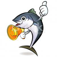 Stock illustration 28937712 loudspeaker to promote tuna